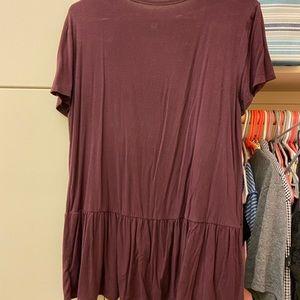 Soft and sexy peplum shirt